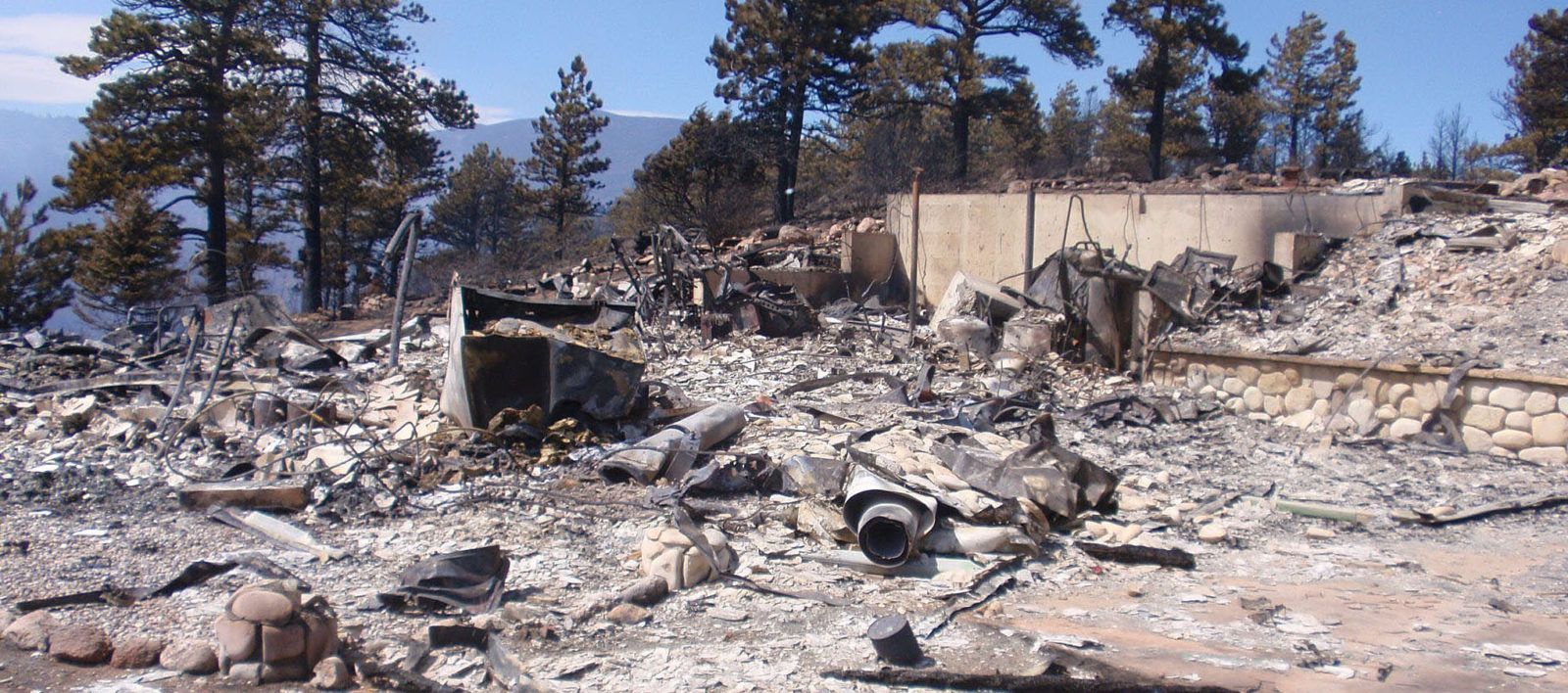 burned home in Colorado foothills
