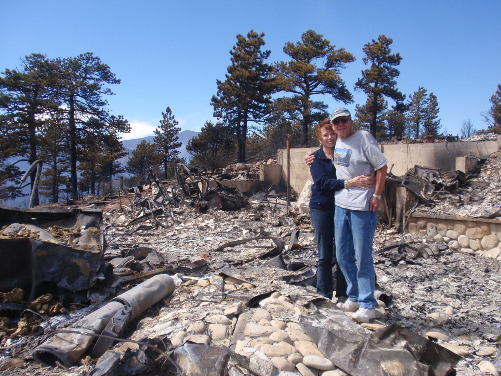 After the fire burned Linda Masterson's home